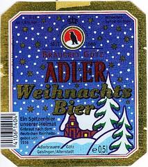 Germany - Brauerei Götz (Geislingen) (cigpack.at) Tags: bier beer brauerei brewery label etikett bierflasche bieretikett flaschenetikett germany deutschland adler weihnachtsbier weihnachten christmas xmas götz