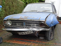 1969 Ford Cortina 1600 Estate (Neil's classics) Tags: vehicle wagon estate abandoned