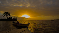 Sunset on the Maroni (alain_did) Tags: maroni saintlaurentdumaroni fleuve pirogue