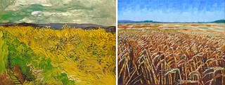 Wheat Fields by Van Gogh 1890 and Anthony D. Padgett 2017