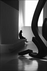 on the brink of the unknown (bostankorkulugu) Tags: milan milano lombardy lombardia italy woman girl geometry square art artwork carloramous italia triennale latriennaledimilano