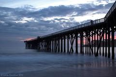 San Simeon's Pier (Jolita Kievišienė) Tags: california america united states usa ocean pacific beach san simeon sunset highway 1 pier west coast siluet silhouette