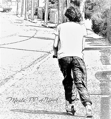 349. YIN: Scooting The Hood ( 1 ) (Meili-PP Hua 2) Tags: people scooter ride move wheels scootering fauxinkwash abstract photography sports hobby play scooterrider rider transport street streetphotography road city urban house neighbourhood suburbs artisticphotography fauxart fauxetching etching blackandwhite blaceandwhitephotography fun ridescooter silhouettes shadows blackwhite whiteblack blackwhiteandgrey grey monochrome blackandwhitestreetphotography mlpphstreetphoto blackandwhitephotography blackwhitephotography whiteblackphotography bw monochromatic gray white black mlpphbwphotos photographypassionsxyz