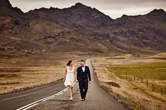 Eiríkur & Guðlaug (LalliSig) Tags: wedding photographer iceland summer june outdoor road mountains walking portrait portraiture people