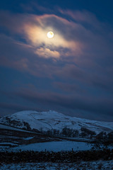 Cumbria in moonlight (j0hnnyg) Tags: cumbria moon moonlight borrowdale beck north stainmore sone walls weather