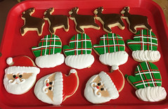christmas (backhomebakerytx) Tags: santa claus christmas cookies mittens reindeer rudolph backhomebakery