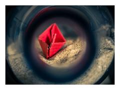 "Red ship _ MacroMondays _ ""In a bottle"" (Werner D.) Tags: macromondays iabottle macro color stilllife bottle ship"