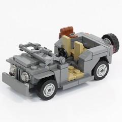 Military Jeep (X39BrickCustoms .com) Tags: lego legos military jeep ww2 world war parts x39brickcustoms