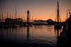 Twilight in Port Vell.... (Dafydd Penguin) Tags: sunset twilight sun set after dark ornage harbour harbor port dock harbourside dockside quay side leica m10 summicron 35mm f2 asph barcelona vell catalunya catalonia