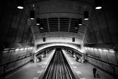 Radisson [bw] (s.W.s.) Tags: montreal quebec canada metro subway street urban city symmetry architecture architectural radisson station underground blackandwhite lightroom nikon d3300