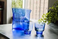 RidgeKitchen-set-cobalt-lifestyle-02 (Charles & Marie) Tags: glasses areaware glassware ridgekitchen carafe visibility pitcher