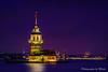 Maiden's Tower Istanbul Turkey Night (Mutlu Project) Tags: galatatower phosphorescence maidenstower kızkülesi salacak sea cami eminonu galata topkapı ottman üsküdar turkey istanbul maidens tower kız külesi sky night water city