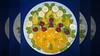 Bildschichten Fruechteteller 90w4 (wos---art) Tags: früchteteller frühstücksteller inliebe obstteller bildschichten obst füresther orangen kiwi banane birne himbeeren ananas weintrauben apfel