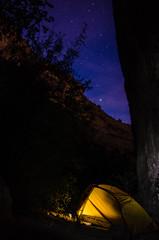 Canyon Solitude (Natalie-Arizona) Tags: arizona tontonationalforest backpack camp tent canyon sonoran desert sonorandesert nightsky