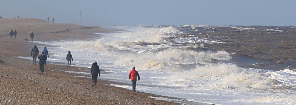 Cley beach on a stormy day