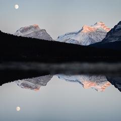 Blue hour. Bow Lake. Banff. Alberta. (Tanner Wendell Stewart) Tags: ifttt 500px banff alberta bow lake blue hour moon