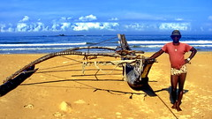 Certainly a seaworthy boat (gerard eder) Tags: world travel reise viajes asia southasia srilanka ceylon beach boats boote barcas outrigger outriggerboat playa paisajes panorama people peopleoftheworld strand wasser water see sea seascape landscape landschaft natur nature naturaleza outdoor ocean