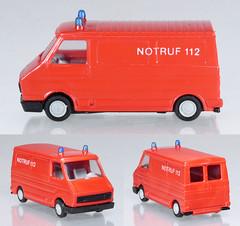 PRA-03-Feuerwehr (adrianz toyz) Tags: plastic toy model 187 scale praliné germany fire service van feuerwehr fiat 242 citroen c35 adrianztoyz