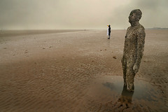In Another Place (PentlandPirate of the North) Tags: penguin anotherplace antonygormley beach merseyside statue man contemplation crosby different strange