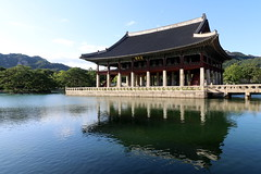 Gyeongbokgung (mbphillips) Tags: gyeongbokgung 경복궁 景福宮 gyeonghoeru 경회루 慶會樓 gyeonghoerupavilion jongnogu 종로구 鐘路區 korea 한국 韓國 韩国 southkorea 대한민국 republicofkorea 大韓民國 서울 首尔 asia 亞洲 fareast アジア 아시아 亚洲 mbphillips goetagged photojournalism photojournalist palace 궁전 宫殿 palacio canon80d seoul capital 首都 수도 canonefs1018mmf4556isstm 반사 反射 reflexión reflection