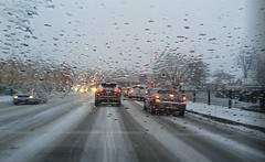 Cellphone Video Snip - Countdown to Summer (Daryll90ca) Tags: traffic travel car weather snow slippery
