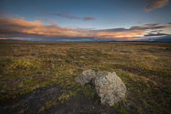 Two stones and nothing else (Sizun Eye (OFF for a while)) Tags: iceland stones wilderness mountains clouds morning sizuneye landscape nikond750 nikkor1424mmf28 vastness