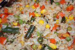 Fried Rice. (dccradio) Tags: lumberton nc northcarolina robesoncounty inside indoors food eat homemade chinesefood meal supper lunch dinner nikon d40 dslr veggies friedrice rice beans greenbeans corn carrots peas