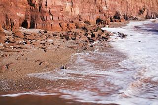 Triassic rock meets the sea