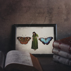 Part of your collection (Federkiel Fotografie) Tags: fineart fineartphotography surreal surrealart surrealphotography photography concept conceptart conceptphotography photographylife photographysoul photographysouls story storytime storytelling inspired inspiration digitalart federkiel federkielfotografie emotional selfportrait fairytale butterfly dress dream frame book books collection collector part captures pierced forgotten forget examined dark darkart dead grunge portrait