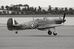 G-HITT / P3717 Hawker Hurricane Mk.1 (R.K.C. Photography) Tags: ghitt p3717 hawkerhurricane mk1 duxford cambridgeshire england unitedkingdom uk flyinglegends airshow iwm raf royalairforce classic fighter aircraft aviation blackandwhite canoneos100d snapseed