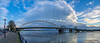 Brug naar het westen (Hans van Bockel) Tags: 1680mm bomen city d7200 ijssel luchten natuur natuurgebied nikkor nikon rivier stad wandeling welle deventer overijssel nederland nl bridge panorama pano