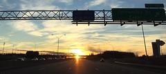 Sunset on 85