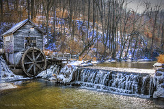 Winter Vacation    (explored) (jackalope22) Tags: mill hydes wi wisconsin dodgeville waterfall wheel