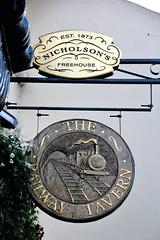 Pub sign for the Railway, Richmond. (Peter Anthony Gorman) Tags: pubsigns railwaypubsigns nicholsons richmondpubs
