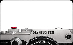 Olympus Pen-F. With Red soft touch button. (CWhatPhotos) Tags: cwhatphotos olympus penf pen f 17mm zuiko prime lens shadow shadows light photographs photograph pics pictures pic picture image images foto fotos photography that have which with contain mk digital camera product micro four thirds 43rds 43 mirrorless