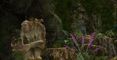 At Dynasty City_002 (lala_melody) Tags: troll offering statue flowers second life