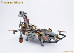02_Transport_Airship (LegoMathijs) Tags: lego moc legomathijs steampunk mine transport airship crane cargo pickaxe ore trade propellors steampowered space scifi minifig exhaust miners mining discovering discovery