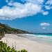 Strand Petite Anse auf der Insel La Digue, Seychellen