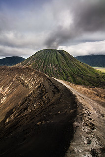 On the edge, Bromo volcano, Indonesia
