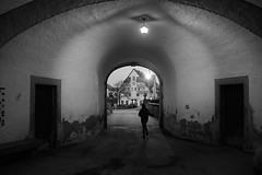 Run away (stefankamert) Tags: stefankamert castle run away noir blackandwhite blackwhite noiretblanc light sony rx1 rx1r fullframe mirrorless mood door