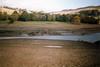 Ladybower Reservoir, October 1989 (Dave_Johnson) Tags: silentvalley derwentvillage ladybower reservoir ladybowerreservoir derwent derwentreservoir upperderwentvalley derwentvalley valley dambusters peakdistrict derbyshire drought 1989 derwenthall hall ruinedhall ruins