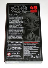 star wars the black series 6 inch action figure #49 maz kanata the last jedi red and black packaging hasbro 2017 misb b (tjparkside) Tags: maz kanata star wars black series 2017 tbs 6 six inch inches basic action figure figures last jedi tlj episode 8 eight viii tfa force awakens vii 7 seven blaster blasters pistol rifle weapon weapons chest lightsaber hilt glasses goggles resistance hasbro 49 red packaging misb