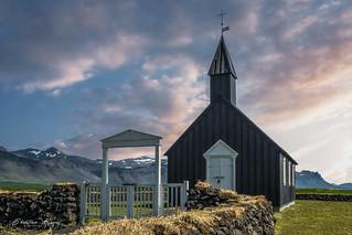 Iceland 2015 -  The black church at Búðir