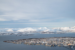 Tromso from the Fjellheisen Mountain (Frightened Tree) Tags: tromso cable car hiking camping travel gwyliau vacation norway europe skiing ski adventure island northern lights aurora wandering owl nikon d750 mynydd moel taith cityscape seascape landscape snow winter arctic
