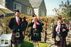 Stow Pipe Band (twm1340) Tags: 2000 wedding melrose scotland scottish borders roxburghire stow pipe band bagpipe drum drummer piper