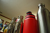 Beverage Containers. (dccradio) Tags: lumberton nc northcarolina robesoncounty inside indoors bottle waterbottle thermos drink beverage beveragecontainer red drinking drinks nikon d40 dslr kitchen reflection thermoses