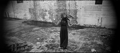 Pregnant Dreams (argentography) Tags: ica polyscop polyskop zeiss tessar panorama mask pregnancy monchrome dream