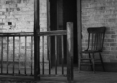 Chair on a Porch (arbyreed) Tags: arbyreed monochrome chair porch old vintgage abandoned ghosttown graftonghosttown bw blackandwhite washingtoncountyutah abandonedtown