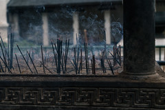Offerings (mcmessner) Tags: incense kandy offering sridaladamaligawa srilanka streetphotography temple templeofthetooth travel travelphotography sticks smokey wafting