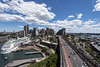cruise ship, sydney & western sydney (Greg Rohan) Tags: skyscrapers architecture skyline cityscape city sydneycity sydney westernsydney bridge transportation cars traffic clouds sky saltwater ocean harbour sea water boat cruiseship ship d750 2017 nikkor nikon building road